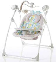 Baby Mix detská elektrická hojdačka s diaľkovým ovládaním, farba béžová
