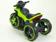 Zelená elektronická policajná motorka