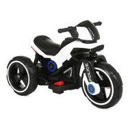 Biela elektronická policajná motorka