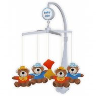 Baby Mix rotačná a hudobná hračka na postieľku s plyšovými macíkmi