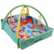 Baby Mix obdĺžniková deka na hranie s mantinelom a vzorom lesných zvieratiek