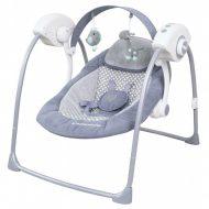 Baby Mix prenosná elektronická hojdačka v sivej farbe