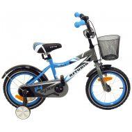 """Baby Mix modrý bicykel (14"""") s košíkom ako darček"""