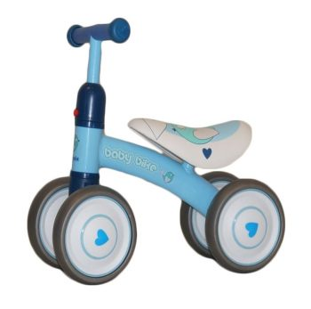 Modrý štvorkolesový bicykel -odrážadlo