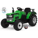 Elektrický traktor s diaľkovým ovládaním v zelenej farbe