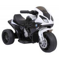 BMW elektrická trolkolesová športová motorka  v čierno-bielej farbe
