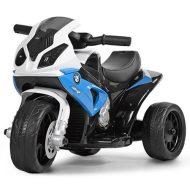 BMW elektrická trolkolesová športová motorka  v modrej farbe