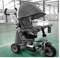 Baby Mix detská trojkolka 360 Turbo otočným sedadlom o 360° - tmavosivá