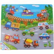 Autá- rozvojová drevená hračka