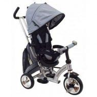 Baby Mix detská trojkolka 360 Turbo otočným sedadlom o 360° - sivá