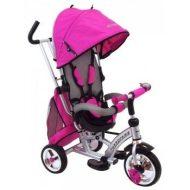 Baby Mix detská trojkolka 360 Turbo otočným sedadlom o 360° - ružová