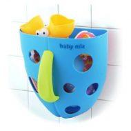 Baby Mix Plastový box na hračky do vane modrý