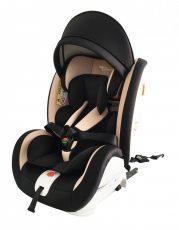 Detská autosedačka Mama Kiddies Rotary s 360° otáčaním (0-36kg) s ISOFIX systémom, farba čierno - béžová + darčeky