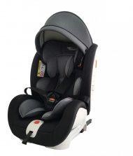 Detská autosedačka Mama Kiddies Rotary s 360° otáčaním (0-36kg) s ISOFIX systémom, farba čierno-tmavosivá + darčeky