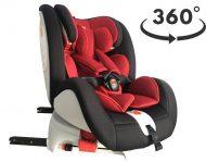 Detská autosedačka MamaKiddies Rotary s 360° otáčaním (0-36kg) s ISOFIX systémom, farba čierno-červená + DARČEK