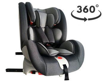 Detská autosedačka MamaKiddies Rotary s 360° otáčaním (0-36kg) s ISOFIX systémom, farba sivá+ DARČEK
