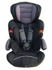 Detská bezpečnostná autosedačka Mama Kiddies Turbo (9-36 kg), sivo čierna