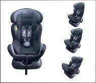 Detská bezpečnostná autosedačka Mama Kiddies Safety Star (0-25 kg), farba sivo-čierna