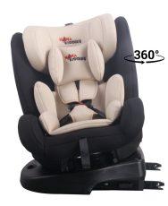 Detská autosedačka MamaKiddies Angel Rotary  s 360° otáčaním (9-36kg) s ISOFIX systémom, farba béžová