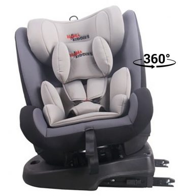 Detská autosedačka MamaKiddies Angel Rotary  s 360° otáčaním (0-36kg) s ISOFIX systémom, farba sivá
