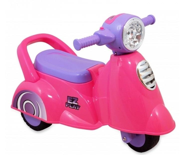 a8ab9326f Detské odrážadlo - trojkolesová motorka, farba pink - Detské kočíky ...