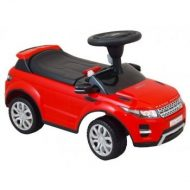 Range Rover nohami poháňané auto s hudbou červené